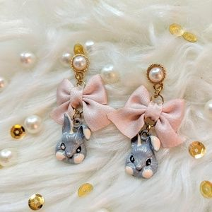 CUTE Rabbit Pearl Bow Earrings! ❤️NEW❤️BOUTIQUE❤️